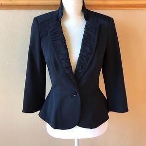 New WHBM blazer peplum black jacket size 4